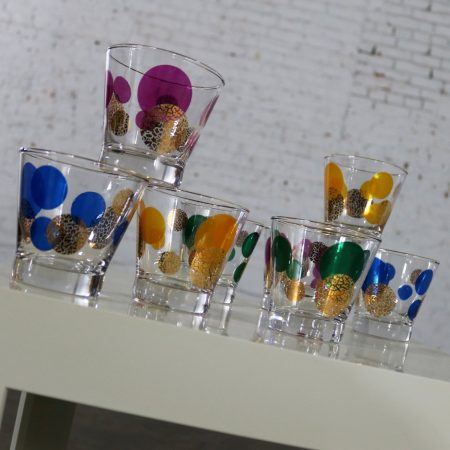 Russel Wright Eclipse Old Fashioned Cocktail Glasses for Bartlett Collins MCM Set Eight