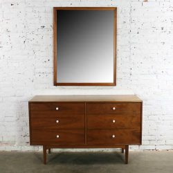 Drexel Declaration 6 Drawer Dresser with Mirror by Kipp Stewart and Stewart MacDougall