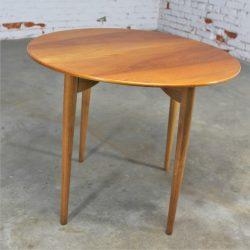 Vintage Mid Century Danish Modern P. Jeppesen Mobelfabrik Teak Side Table Grete Jalk Style