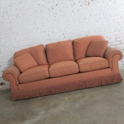 Baker Sofa Lawson Style from the Crown and Tulip Collection Terracotta – ONLY ONE LEFT