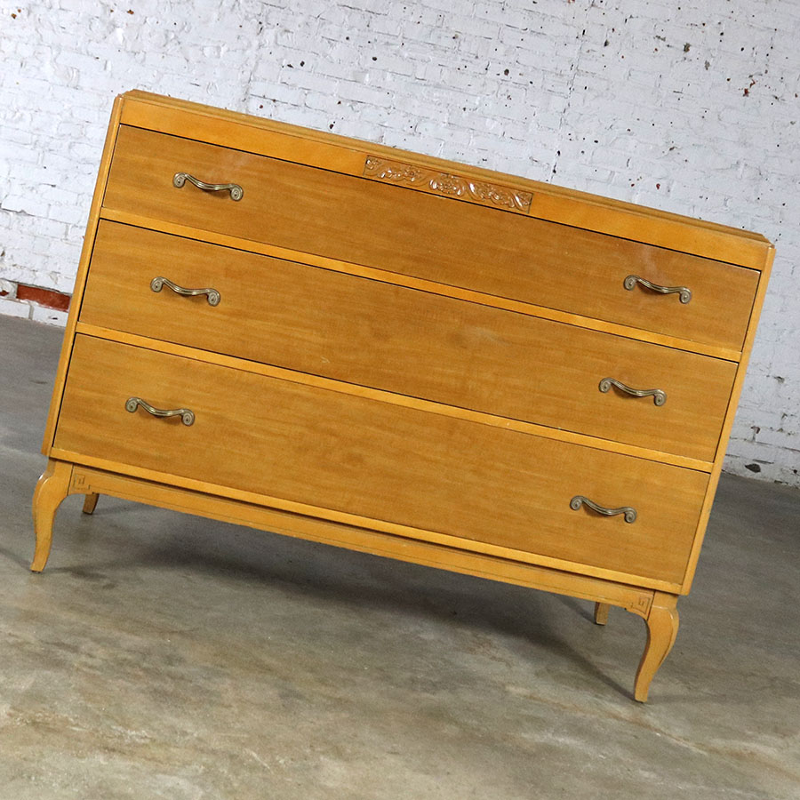 Company Furniture: Art Deco Style Low Dresser By Rway Northern Furniture