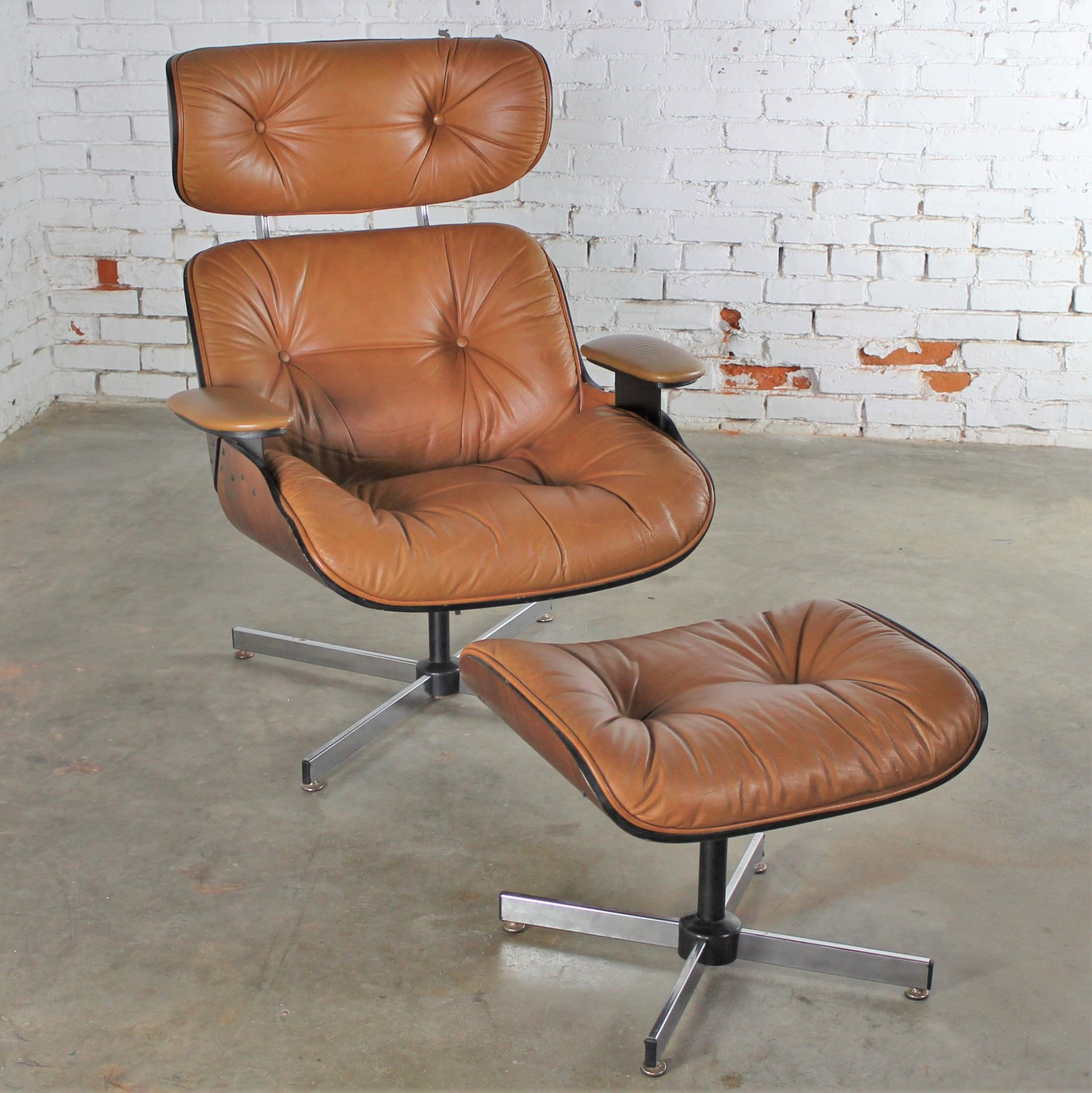Outstanding Mid Century Modern Plycraft Eames Style Lounge Chair Squirreltailoven Fun Painted Chair Ideas Images Squirreltailovenorg