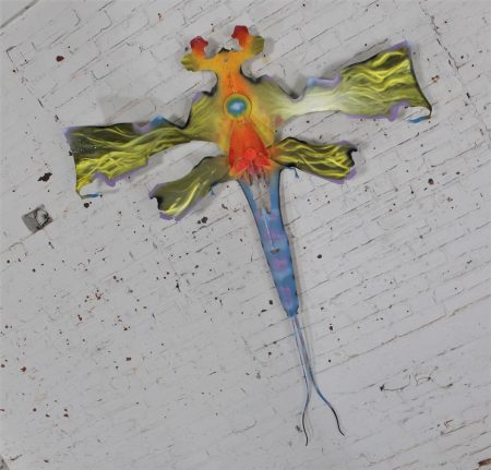 Dragonfly or Mayfly Wall Sculpture or Garden Sculpture of Reclaimed Metal by Jason Startup