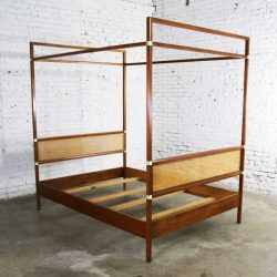 Vintage Hickory Manufacturing Four Poster Canopy Full Sized Bed Mid Century