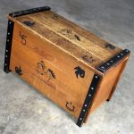 Mid Century Cowboy Western Style Child's Toy Box or Trunk