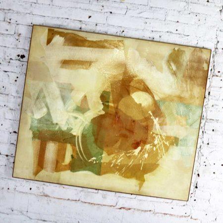 Mixed Media Abstract 2D Art Piece Where No Sea Runs by Richard Slimon Spring 1962