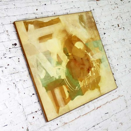 Mixed Media Abstract 2D Art Piece Where No Sea Runs by Richard Slimon Spring 1962