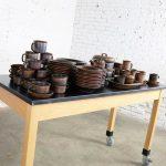 83 Piece Set of Vintage Mid-Century Ruska Stoneware by Ulla Procope for Arabia Finland
