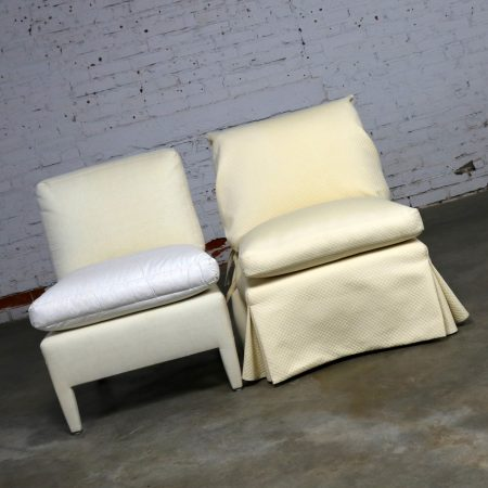 Donghia Slipper Chair by Angelo Donghia Two Available One Slipcovered One Not