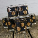 Libbey Gold Coin Collection USA Rocks Cocktail Glasses Set of Eight