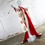 Japanese Silk Embroidered Uchikake Formal Wedding Kimono Vintage