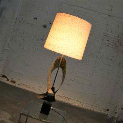 Monumental Laurel Lamp Co. Metal Brutalist Table Lamp