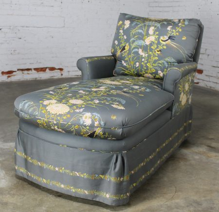 Vintage 1940's Double Armed Chaise Lounge Newly Upholstered