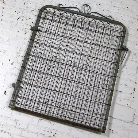 Vintage Woven Wire Cottage Style Garden Gate Patinated Galvanized Metal