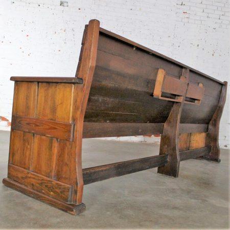 Antique Rustic Pine Bench Pew circa 19th Century