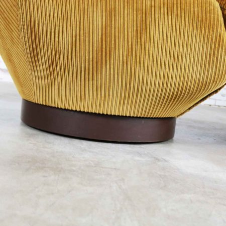 Vintage Modern Selig Swivel Chair and Ottoman Style of Joe Columbo Elda Chair