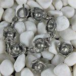 Vintage Pewter Modernist or Brutalist Bracelet & Cufflinks by Lysgards Design