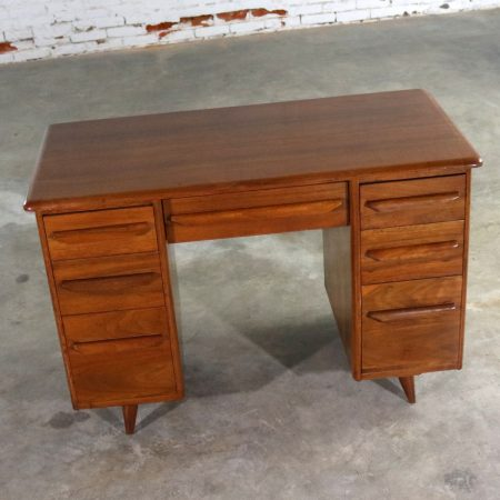 Small Walnut Writing Desk in the Manner of Carl Bissman