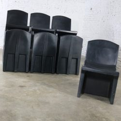 Black Molded Plastic Side or Slipper Chairs by Norix Set of Ten