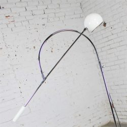 Orbiter Floor Lamp in White by Robert Sonneman