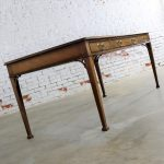Collector's Edition by Baker Chippendale Style Leather Top Mahogany Executive Writing Desk