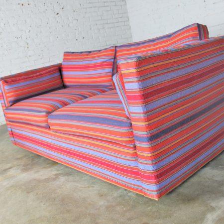 Vintage Mid-Century Modern Harvey Probber Style Tuxedo Loveseat Length Sofa