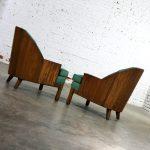 A Brandt Company Ranch Oak Cowboy Western Style Barrel Club Chairs a Pair