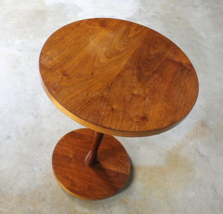 Small Round Walnut Occasional Table Circa 1960's