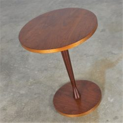 Small Round Walnut Occasional Table Circa 1960's