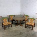Brandt Company Ranch Oak Brunch or Game Table and Four Chairs
