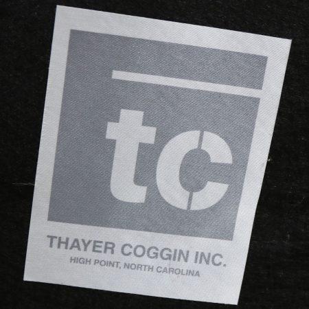 Thayer Coggin 1086 Zac Swivel Lounge Chair White and Satin Nickel