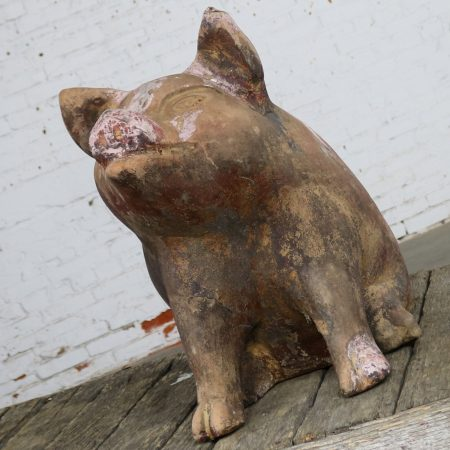 Terracotta Pig Planter Pot Near Life-Size