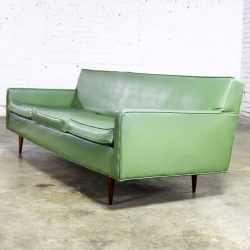 Mid Century Modern Vinyl Sofa by Milo Baughman for Thayer Coggin