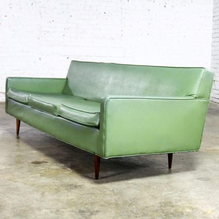 Mid Century Modern Vinyl Sofa by Milo Baughman for Thayer Coggin