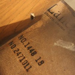 Pair Vintage Lane Chunky Brutalist Oak End Tables
