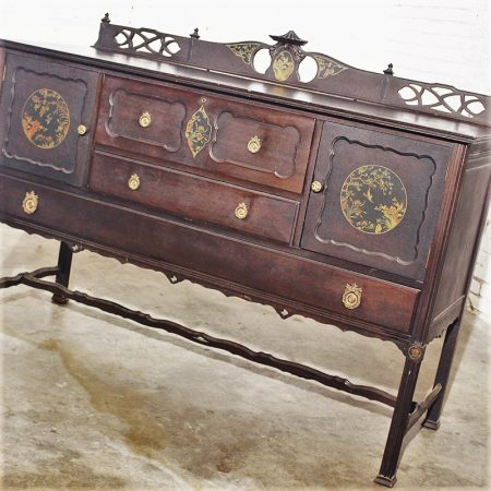 Antique Charles P. Limbert Arts and Crafts Furniture Co. Art Deco Chinoiserie Buffet