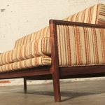 Mid-Century Modern Walnut Trimmed Sofa