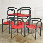 6 Vintage Rubber Armchairs by Brian Kane for Metropolitan Furniture – Steelcase