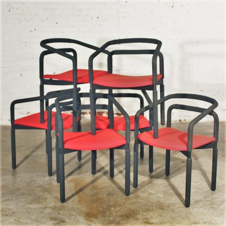 6 Vintage Rubber Armchairs by Brian Kane for Metropolitan Furniture - Steelcase