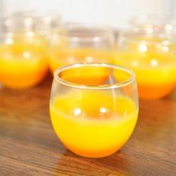 Set of Five Orange Frosted Glasses