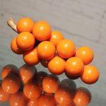 Vintage Opaque Orange Lucite Grapes
