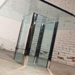 Vintage Chrome and Glass Square Dining Table by The Pace Collection
