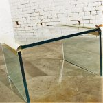 Vintage Brass and Glass Waterfall Side Table by The Pace Collection