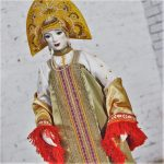 Vintage Russian Folk Costume Doll in style of Elena Pelevina