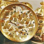 Satsuma Dragonware Tea Set Meiji Period Japan