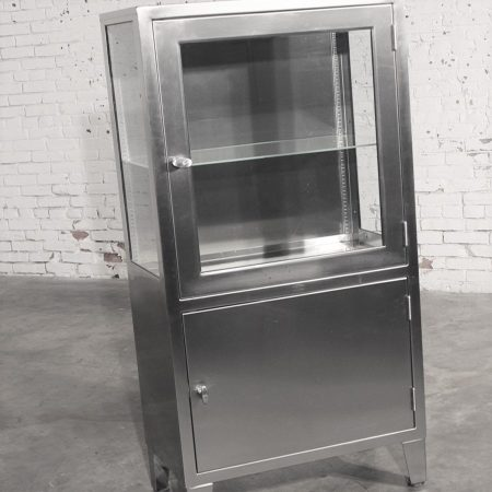 Stainless Steel Lighted Industrial or Medical Display Cabinet