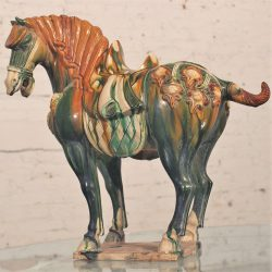 Early 20th Century Tang Style Horse with Tri Glaze