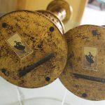 Vintage Monumental Dauphine Harrison & Gil Carved Open Barley Twisted Gilt Candlesticks
