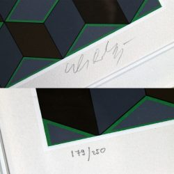 Bi-Cheyt by Victor Vasarely Serigraph in Color Pencil Signed Numbered