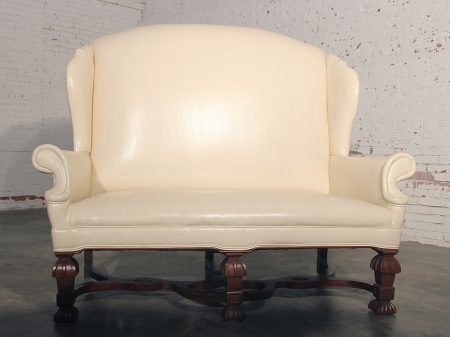 Antique William and Mary Wingback Settee